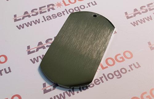 Классический армейский жетон, нержавейка 2 мм